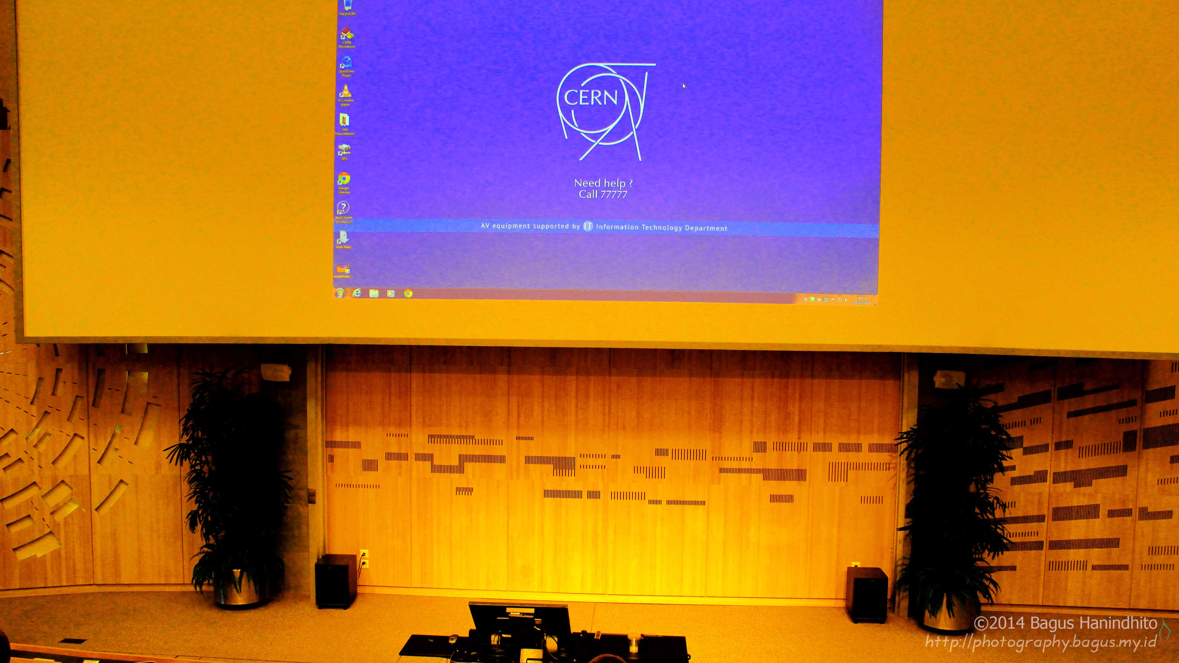 The CERN Main Auditorium where the summer student lectures series took place.