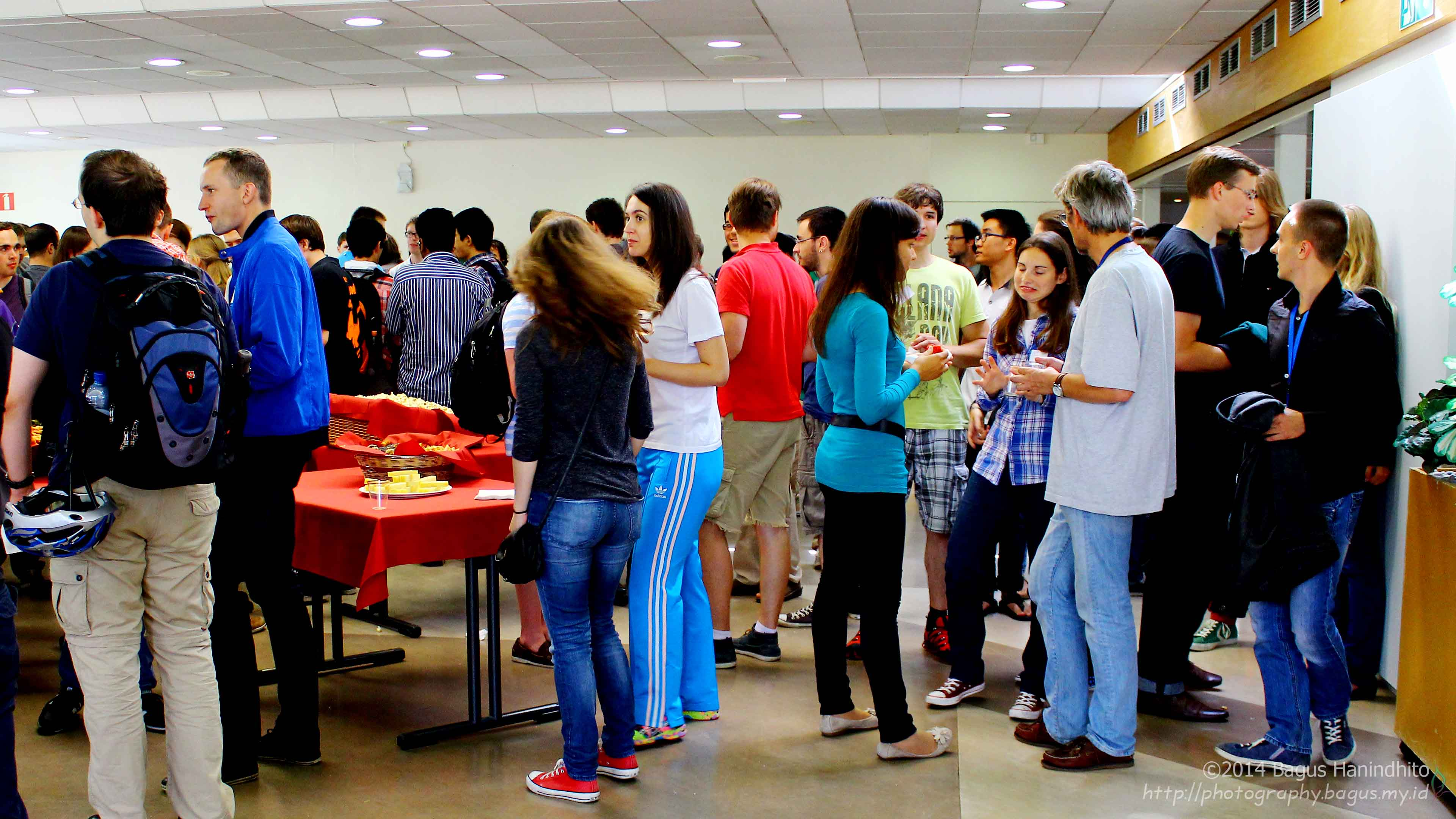 Welcome Party for Summer Student 2014 at CERN Restaurant.