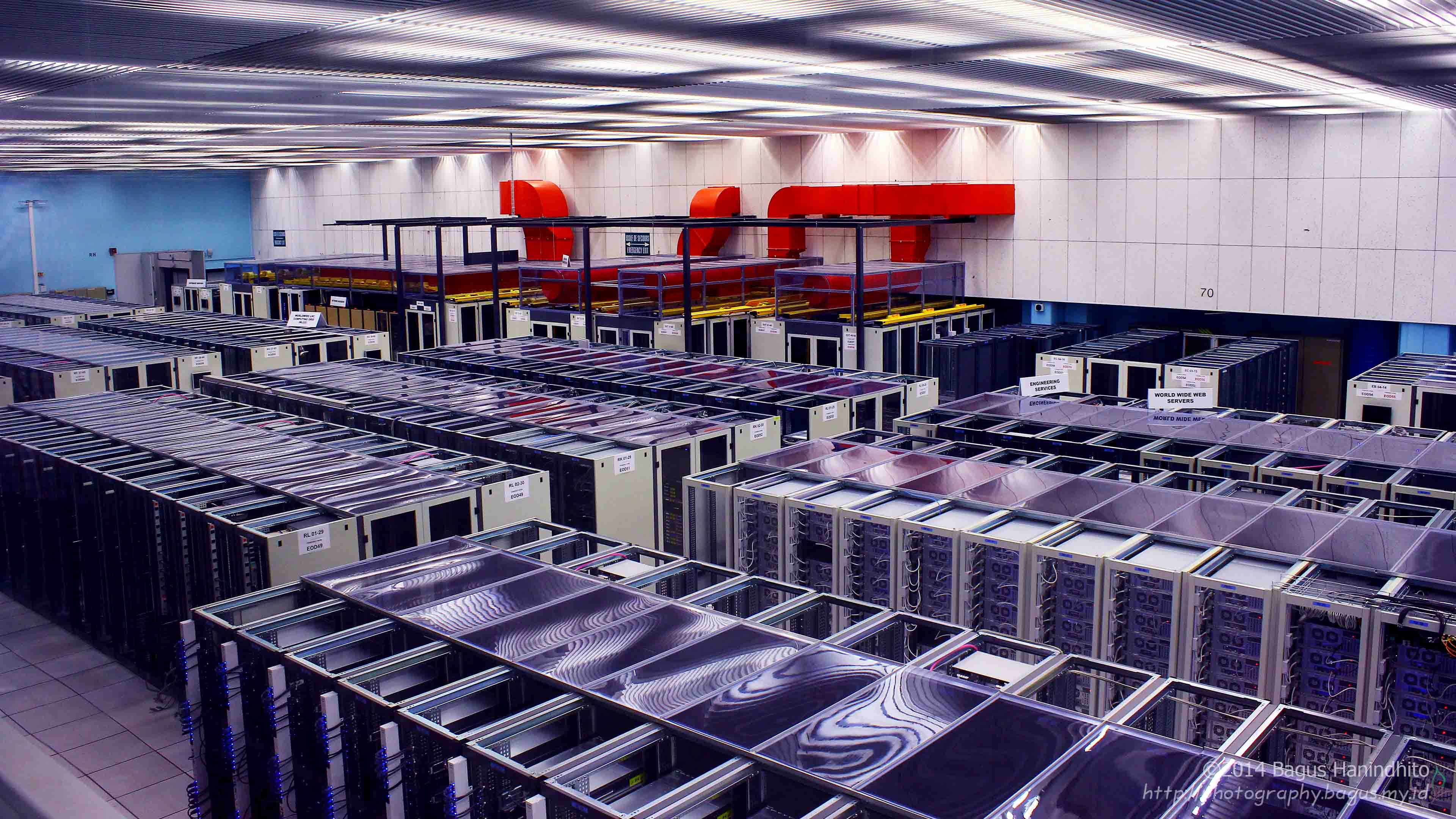 The server rack that host Tier-0 CERN Data Center.