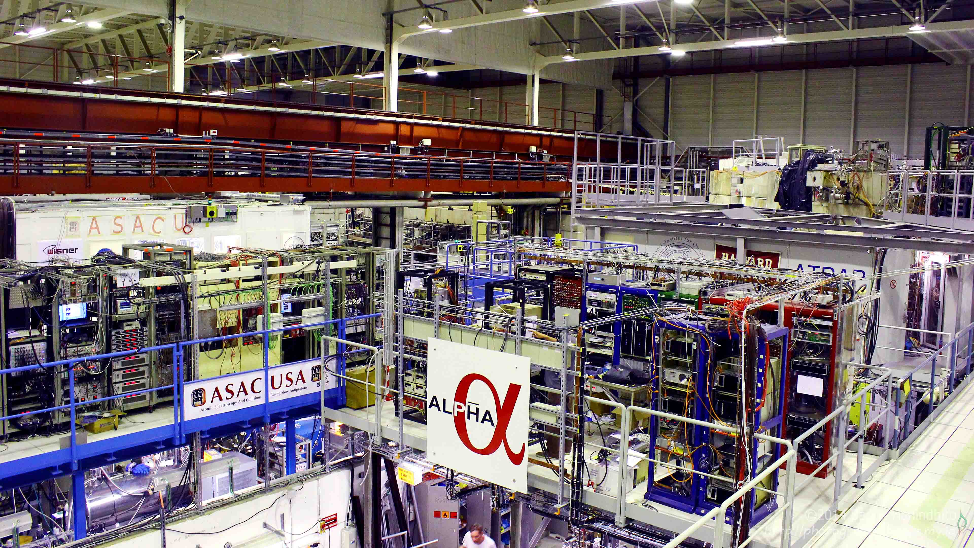 Some of the experiment collaborations at CERN Antiproton Decelerator facility.
