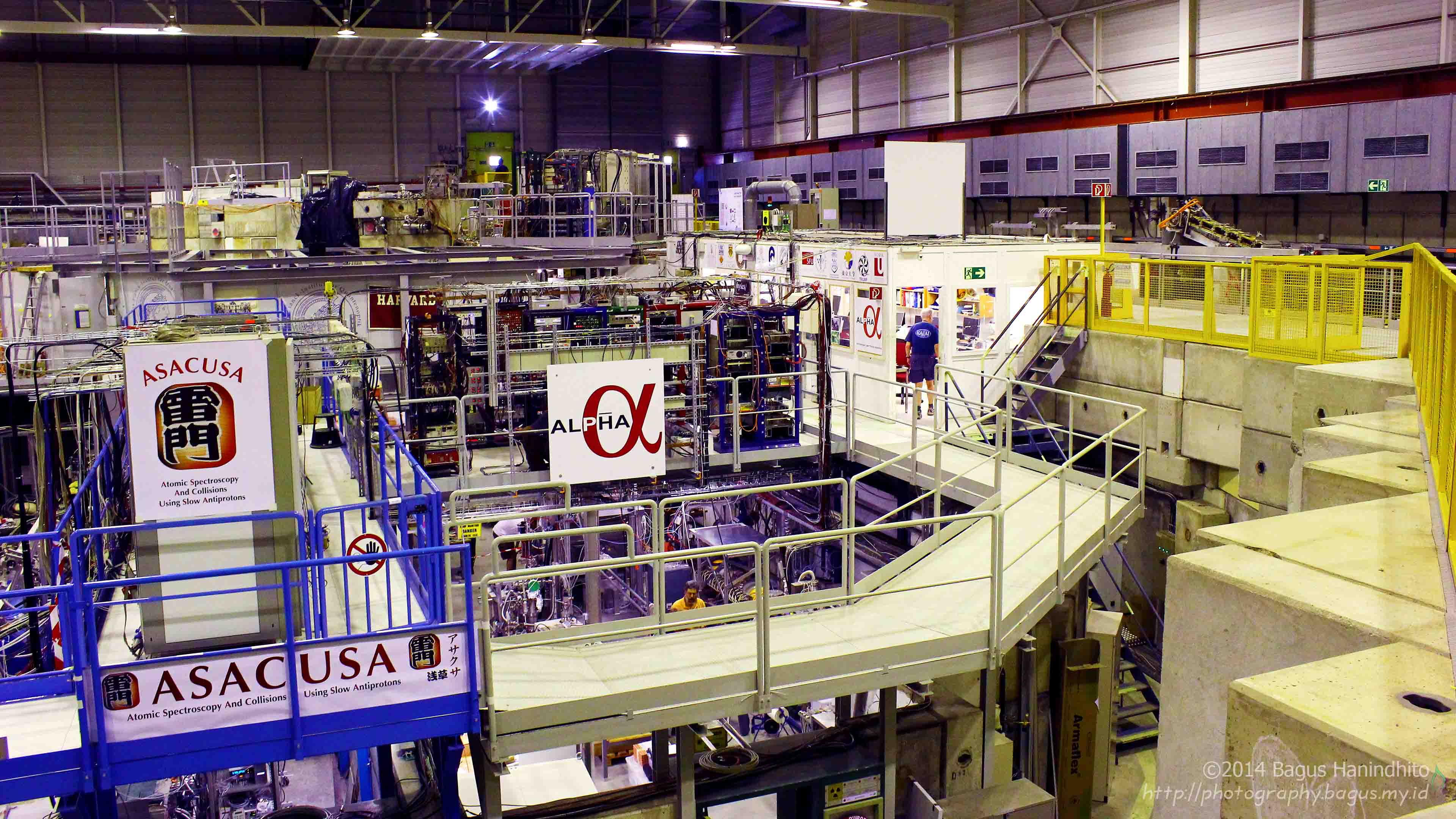 The CERN Antiproton Decelerator (AD) facilities at CERN Meyrin Site, Geneva.