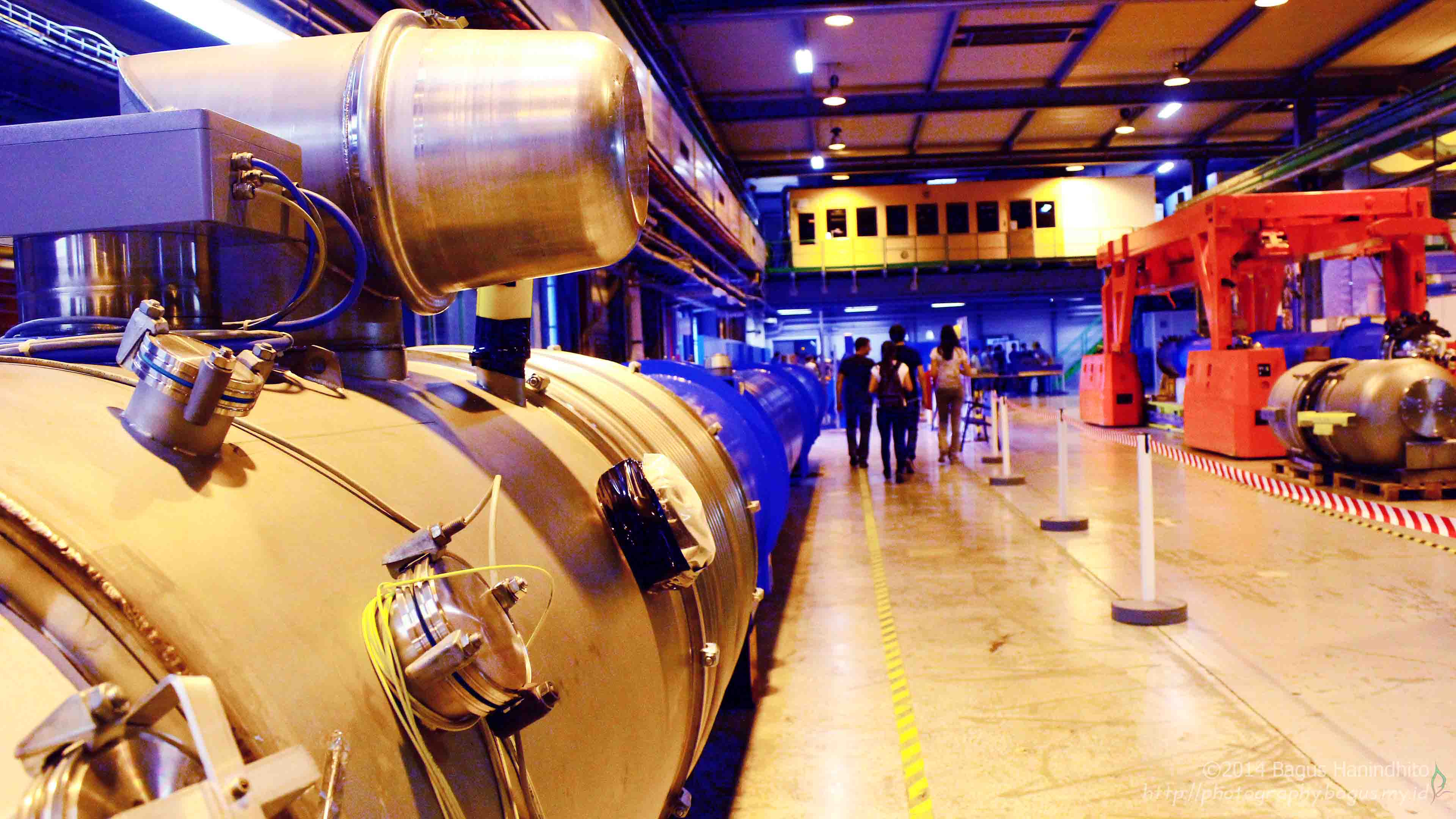 One of the LHC Magnet for exhibition at CERN SM18 Cryogenic Test Facilities