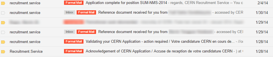 What a relief to receive these confirmation emails from CERN. I have done all of the effort needed, let God do the rest.