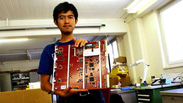 Bagus Hanindhito at ATLAS Pixel Lab, CERN, Geneva, Switzerland