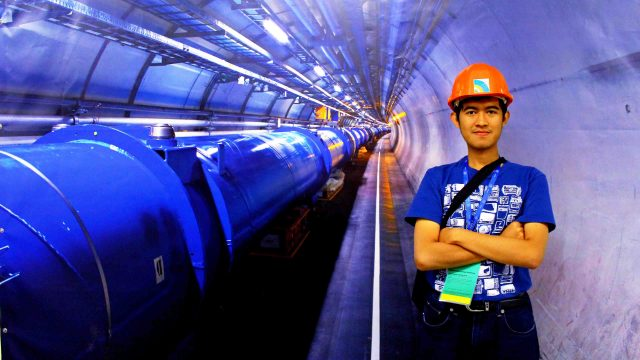 Bagus Hanindhito at Large Hadron Collider at CERN, Geneva, Switzerland