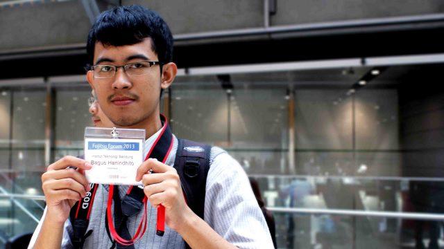 Bagus Hanindhito at Fujitsu International Forum 2013 in Tokyo, Japan