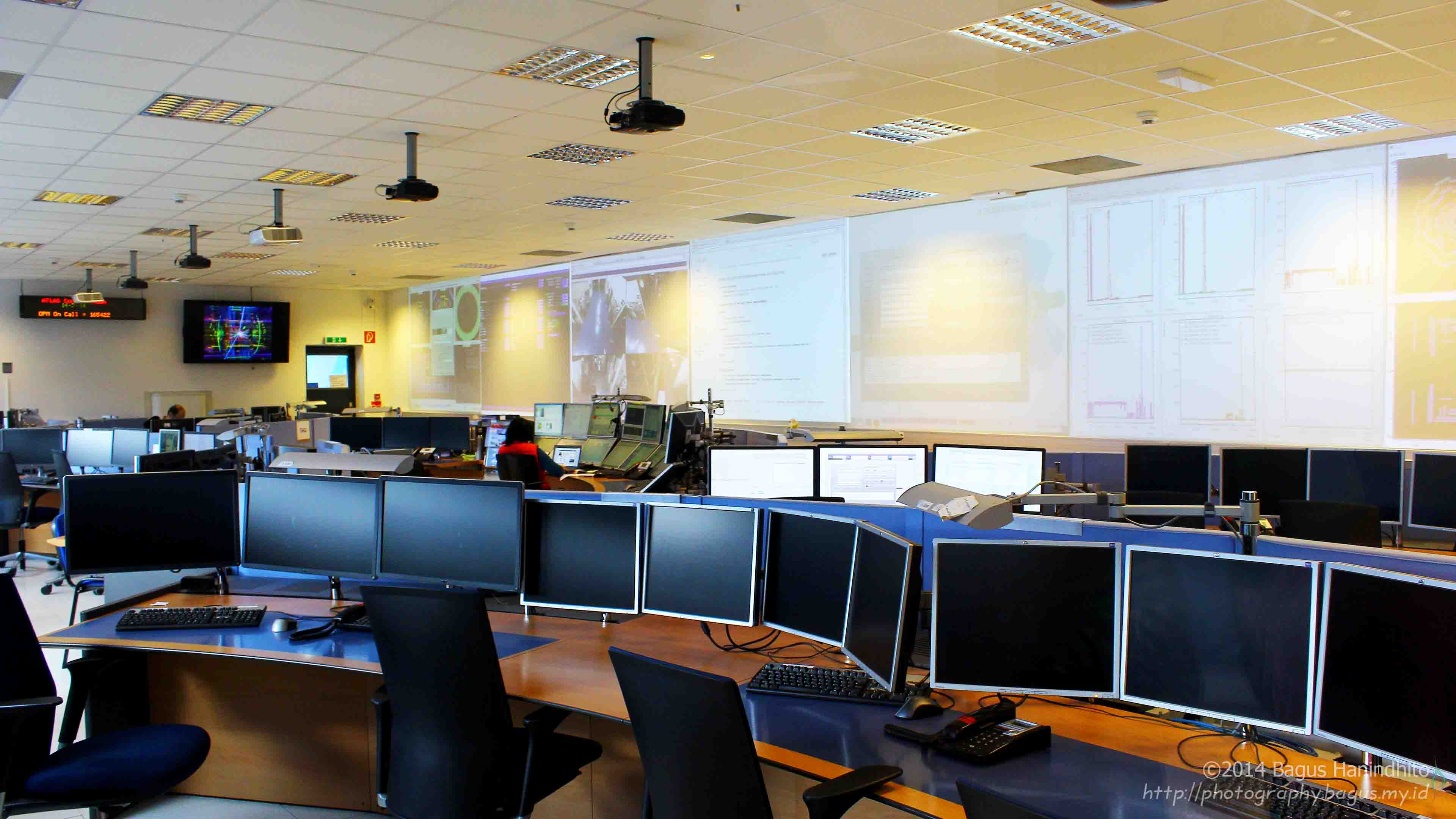 ATLAS Control Center Room. It is where the serious and happiness take place.