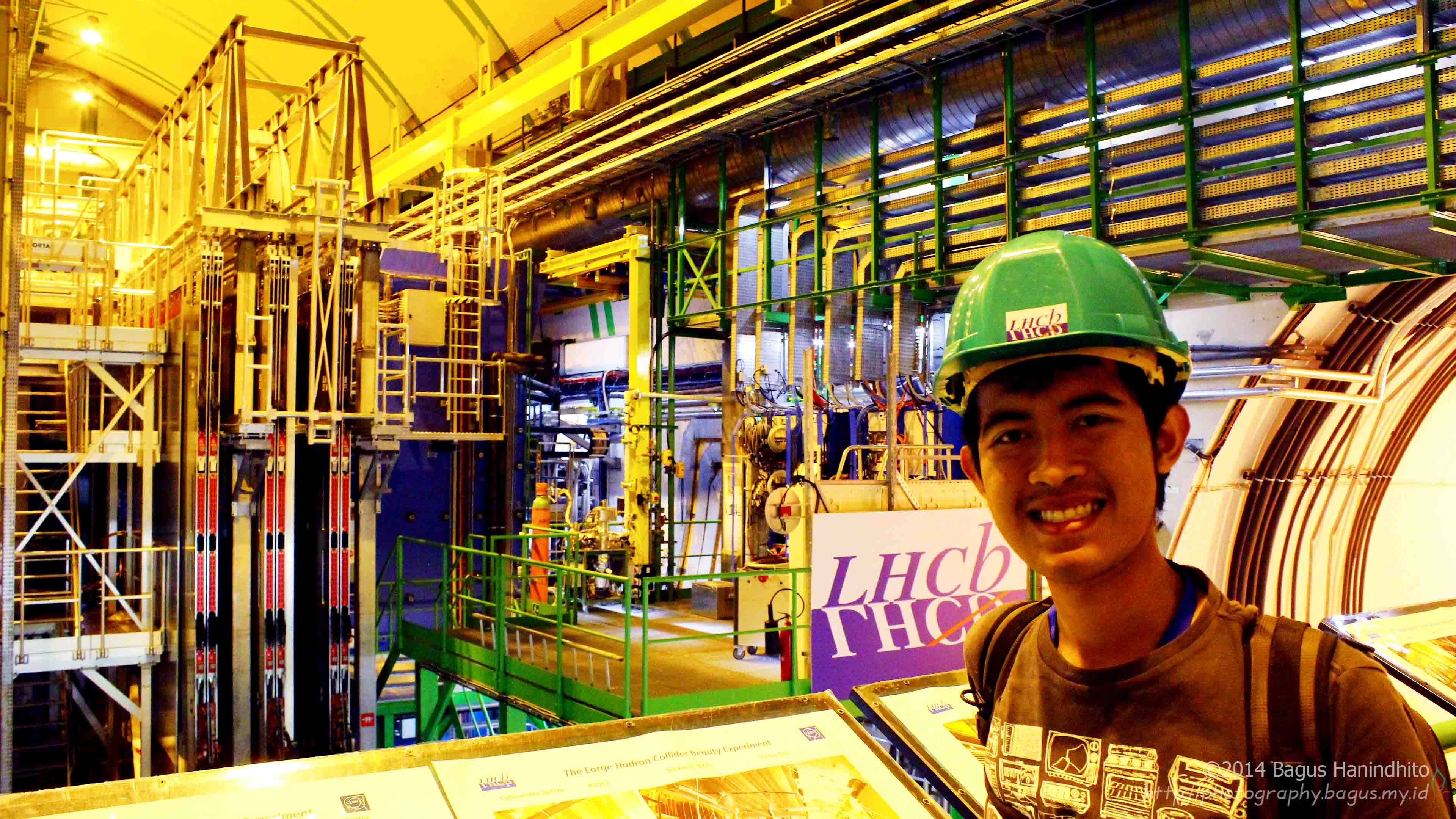 I am in front of the LHCb particle detector.