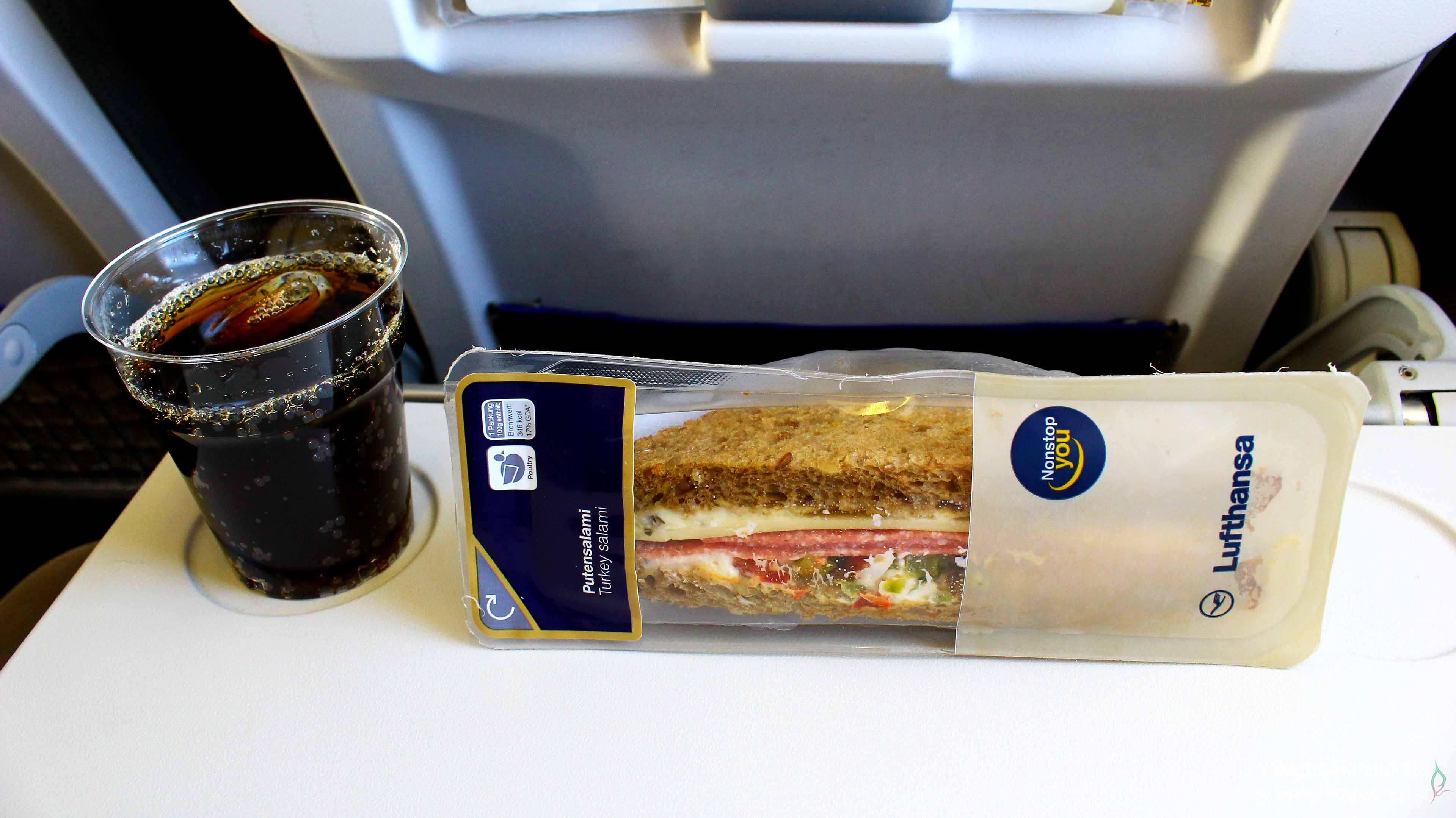 Small snack during my flight from GVA to FRA.