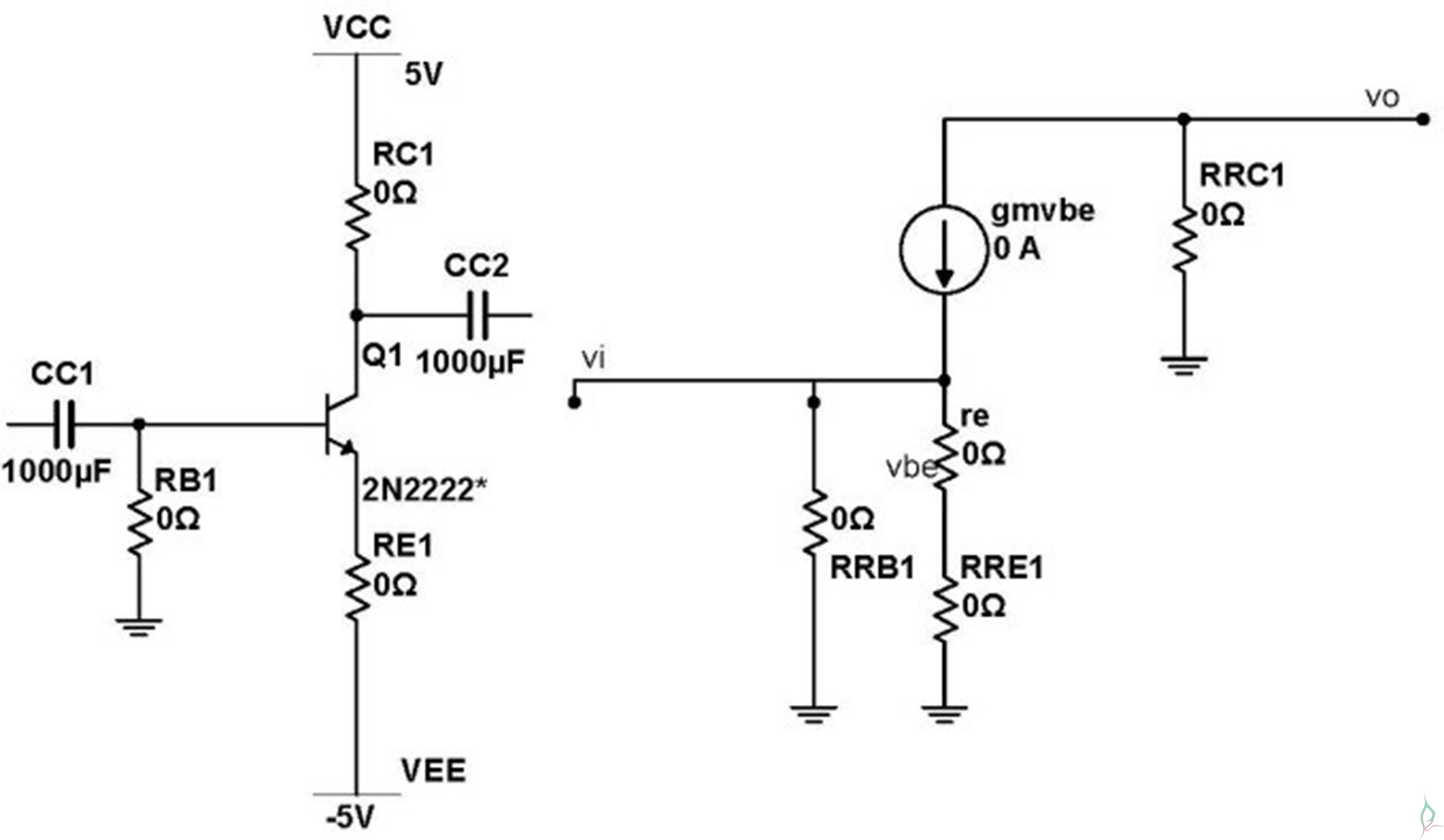 2 Stage Bjt Design Of Ce Amplifier Bipolar Junction Microphone Preamplifier With And Op Amp Youspice Implementation Two Using 2n2222