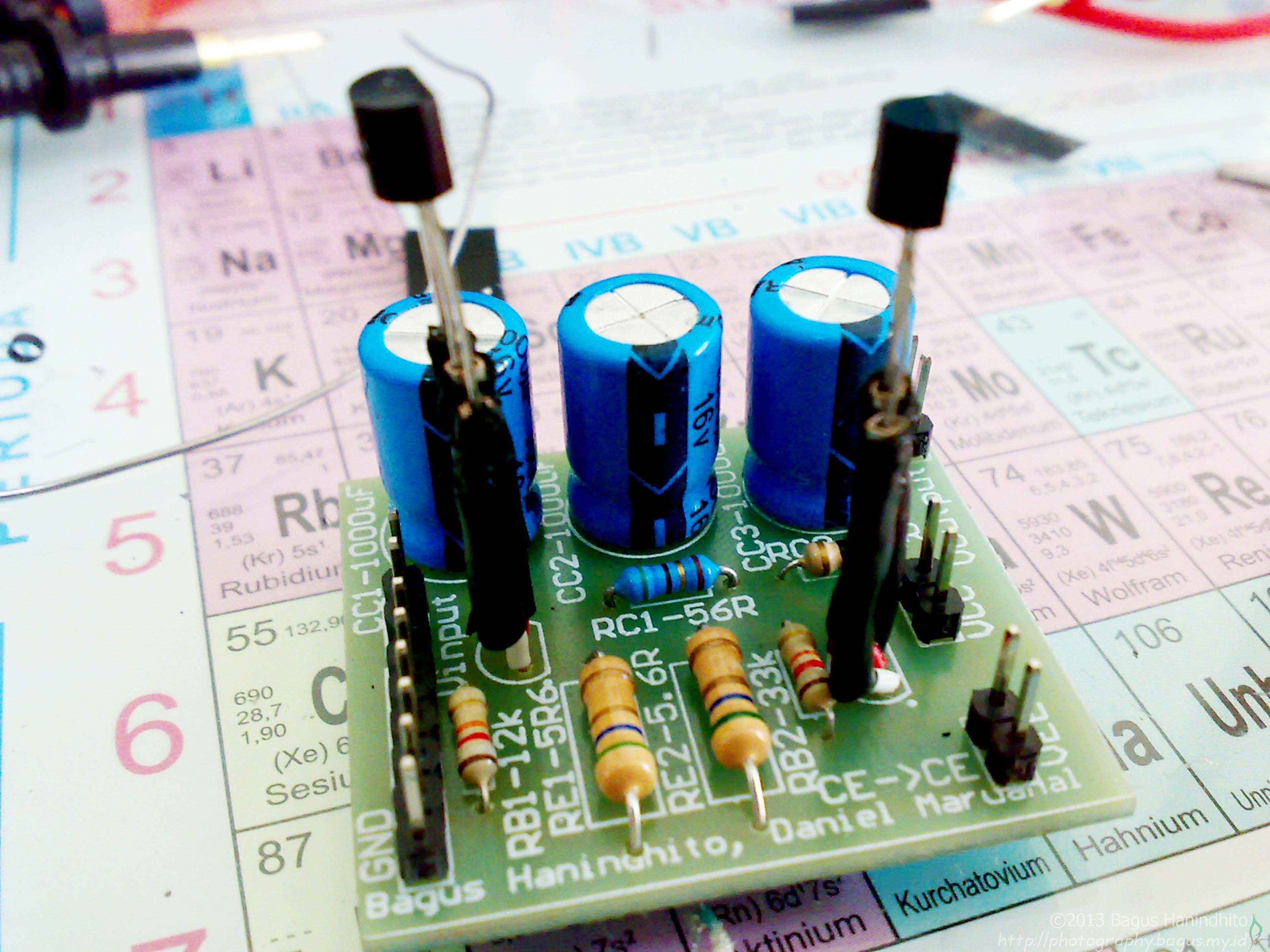 Final Amplifier Implemented on PCB