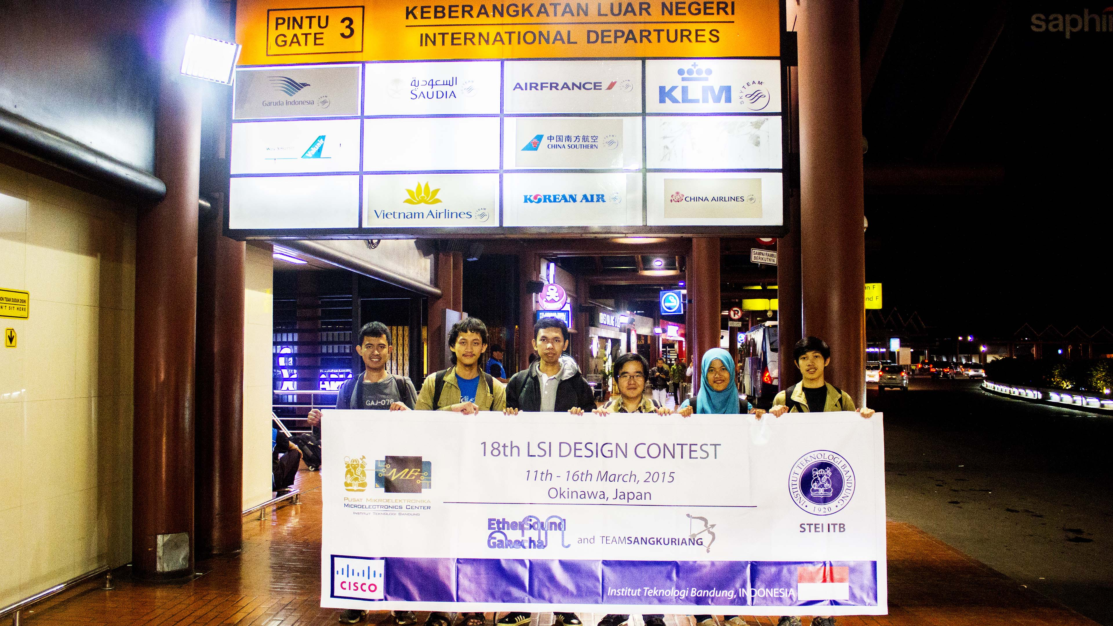 Indonesia Delegation for The 18th LSI Design Contest prior to departure to Japan